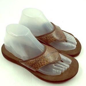 Speedo Men's Brown Flip Flop Sandals 8